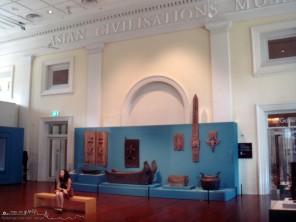 Una de las galerías del Museo de Civilizaciones Asiáticas